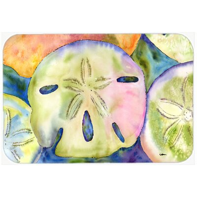 Sand Dollar Kitchen/Bath Mat Size: 24 H x 36 W x 0.25 D
