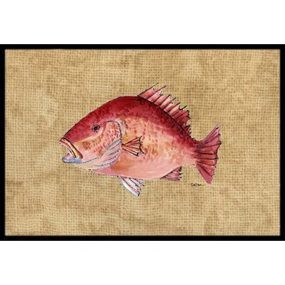 Strawberry Snapper Doormat Mat Size: Rectangle 2 x 3