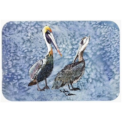 Pelican Kitchen/Bath Mat Size: 24 H x 36 W x 0.25 D