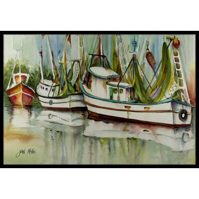 Ocean Springs Shrimper Doormat Mat Size: Rectangle 2 x 3
