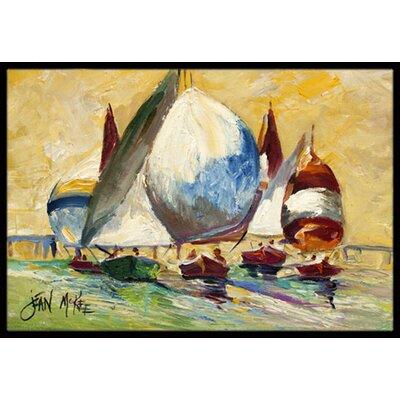 Bimini Sails Sailboat Doormat Rug Size: 2 x 3