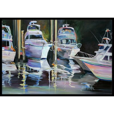 Deep Sea Fishing Boats Doormat Rug Size: Rectangle 16 x 2 3