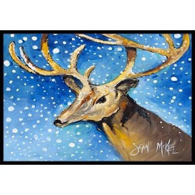 Reindeer Doormat Mat Size: Rectangle 2 x 3