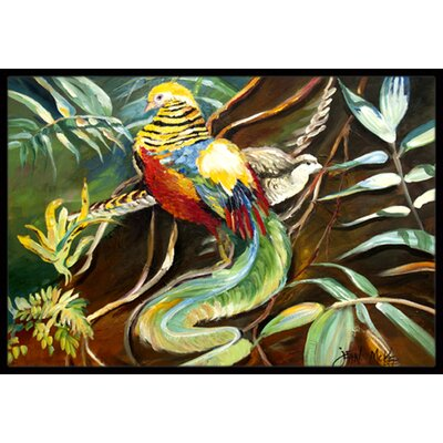 Mandarin Pheasant Doormat Mat Size: Rectangle 16 x 2 3