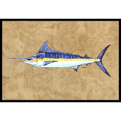 Marlin Doormat Mat Size: Rectangle 16 x 2 3
