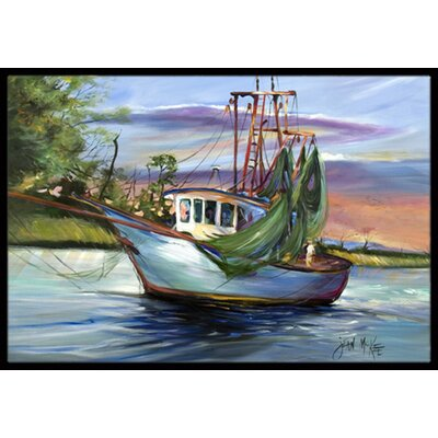 Jeannie Shrimp Boat Doormat Rug Size: 16 x 2 3