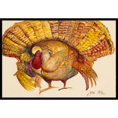 Turkey Doormat Mat Size: Rectangle 16 x 2 3