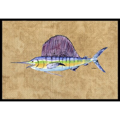 Swordfish Doormat Mat Size: Rectangle 2 x 3