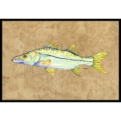 Snook Doormat Rug Size: 2 x 3