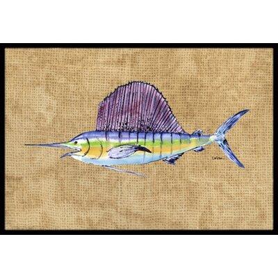 Swordfish Doormat Rug Size: 16 x 2 3