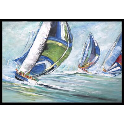 Boat Race Doormat Rug Size: Rectangle 16 x 2 3