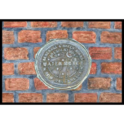 New Orleans Watermeter on Bricks Doormat Rug Size: 2 x 3