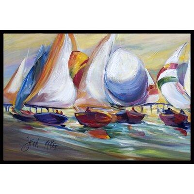 Sailboat Race in Dauphin Island Doormat Rug Size: 16 x 2 3