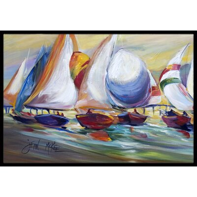 Sailboat Race in Dauphin Island Doormat Mat Size: Rectangle 16 x 2 3