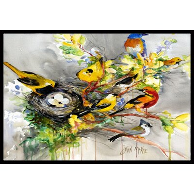 Spring Birds Doormat Rug Size: Rectangle 16 x 2 3