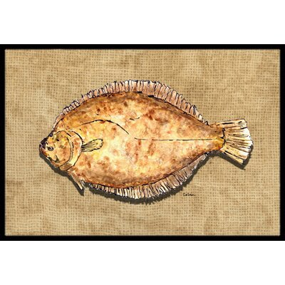 Flounder Doormat Mat Size: Rectangle 2 x 3