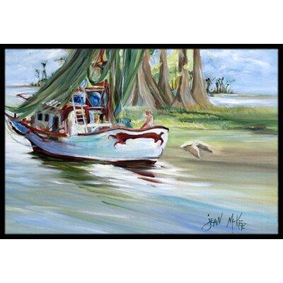 Jeannie Shrimp Boat Doormat Mat Size: Rectangle 16 x 2 3