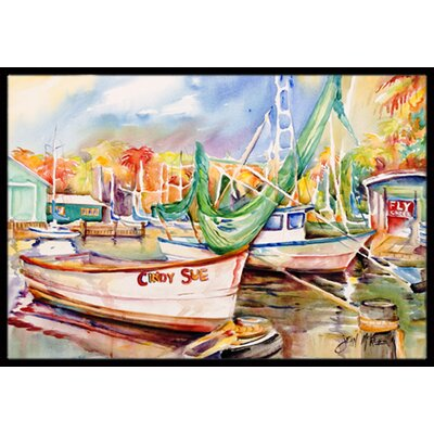 Sailboat Cindy Sue Doormat Mat Size: Rectangle 16 x 2 3