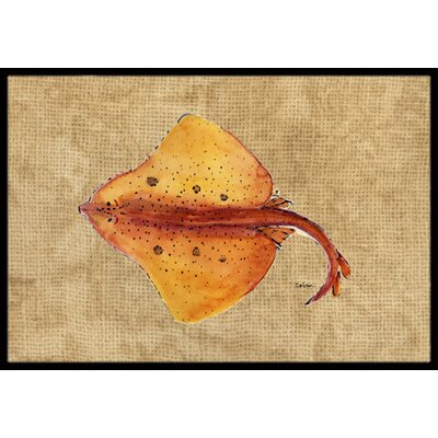 Blonde Ray Stingray Doormat Rug Size: 2 x 3
