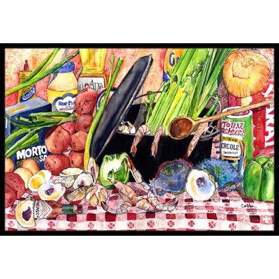 Gumbo and Potato Salad Doormat Mat Size: Rectangle 16 x 2 3