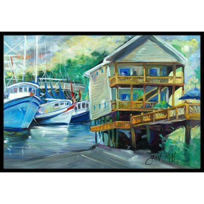 Ocean Springs Harbour Landing Doormat Mat Size: Rectangle 16 x 2 3