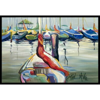 Lasalle Sailboats Doormat Mat Size: Rectangle 2 x 3