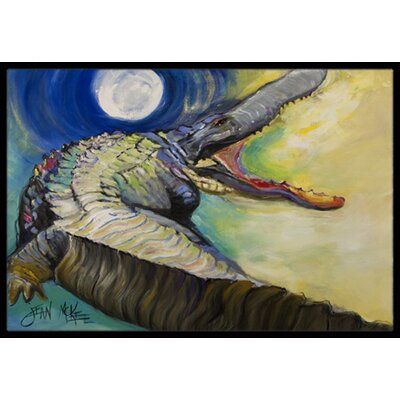 Alligator Doormat Rug Size: Rectangle 16 x 2 3