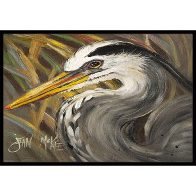 Heron Doormat Rug Size: Rectangle 2 x 3