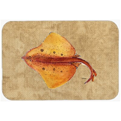 Blonde Ray Stingray Kitchen/Bath Mat Size: 24 H x 36 W x 0.25 D