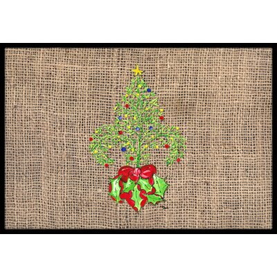 Christmas Tree Fleur De Lis Doormat Rug Size: 2 x 3
