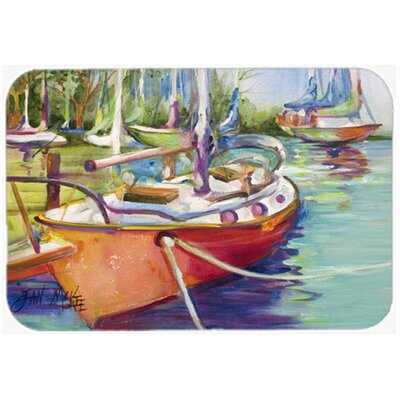 Sailboat Kitchen/Bath Mat Size: 24 H x 36 W x 0.25 D