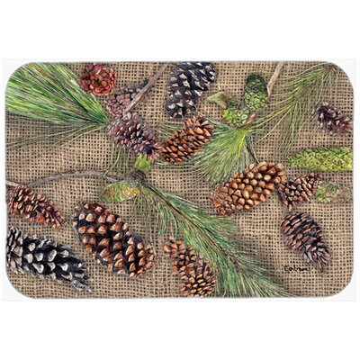Pine Cones Kitchen/Bath Mat Size: 20 H x 30 W x 0.25 D