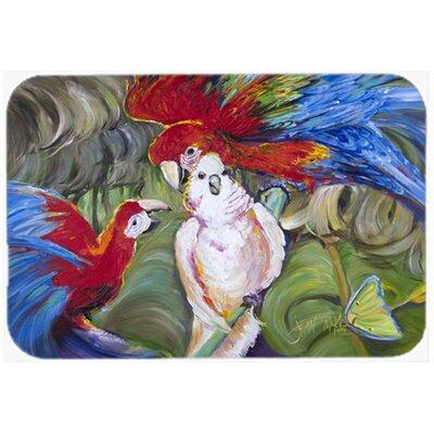 Menage-a-Trois Parrots Kitchen/Bath Mat Size: 20 H x 30 W x 0.25 D
