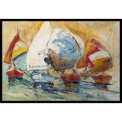 Buzzards Sailboat Race Doormat Mat Size: Rectangle 2 x 3