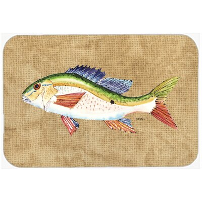 Rainbow Trout Kitchen/Bath Mat Size: 24 H x 36 W x 0.25 D