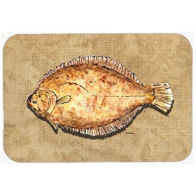 Flounder Kitchen/Bath Mat Size: 20 H x 30 W x 0.25 D