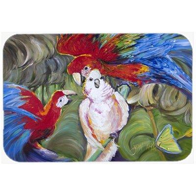 Menage-a-Trois Parrots Kitchen/Bath Mat Size: 24 H x 36 W x 0.25 D