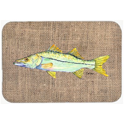 Fish Snook Kitchen/Bath Mat Size: 24 H x 36 W x 0.25 D