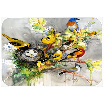 Spring Birds Kitchen/Bath Mat Size: 20 H x 30 W x 0.25 D