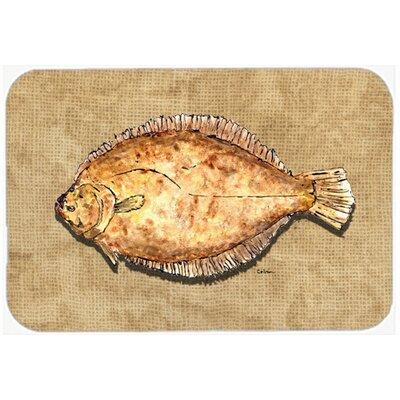 Flounder Kitchen/Bath Mat Size: 24 H x 36 W x 0.25 D