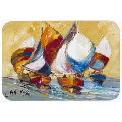Boat Race Kitchen/Bath Mat Size: 24 H x 36 W x 0.25 D