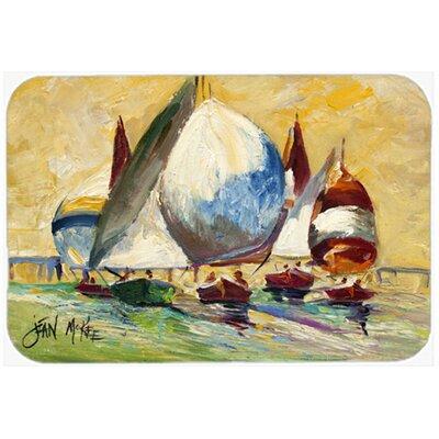 Bimini Sails Sailboat Kitchen/Bath Mat Size: 24 H x 36 W x 0.25 D