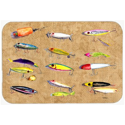 Fishing Lures Kitchen/Bath Mat Size: 24 H x 36 W x 0.25 D