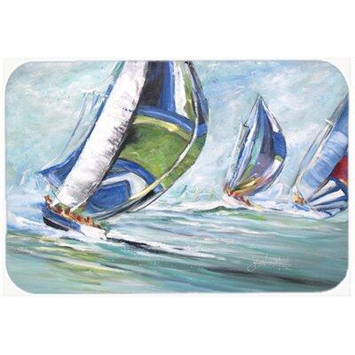 Boat Race Kitchen/Bath Mat Size: 24 H x 36 W x 0.25 D