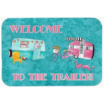 Welcome To The Trailer Kitchen/Bath Mat Size: 24 H x 36 W x 0.25 D