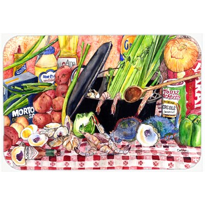 Gumbo and Potato Salad Kitchen/Bath Mat Size: 24 H x 36 W x 0.25 D