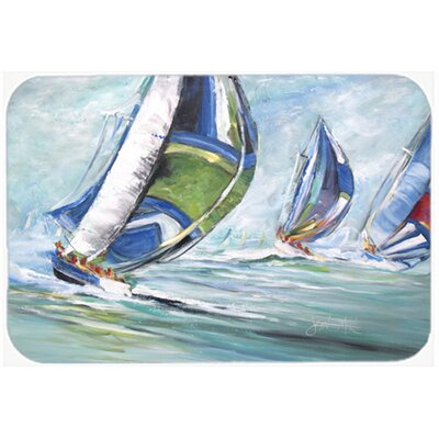 Boat Race Kitchen/Bath Mat Size: 20 H x 30 W x 0.25 D