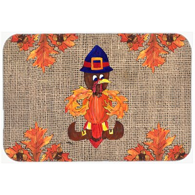 Thanksgiving Turkey Pilgrim Fleur De Lis Kitchen/Bath Mat Size: 20 H x 30 W x 0.25 D
