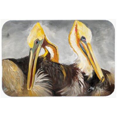 Pelicans Preening Kitchen/Bath Mat Size: 24 H x 36 W x 0.25 D