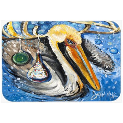 Pelican Dressed As a Reindeer Kitchen/Bath Mat Size: 24 H x 36 W x 0.25 D